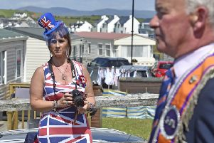 The sun was shining for the annual Donegal Twelfth parade at Rossnowlagh. Pic by Stephen Hamilton/Presseye