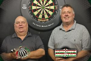 Over 50s KO winner Andy Stubbs & runner-up Gary English