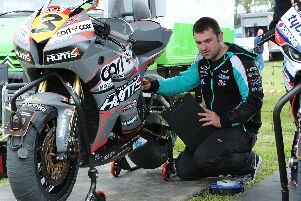 Michael Dunlop returned to the Southern 100 on the Isle of Man on Monday. Picture: Dave Kneen/Pacemaker Press.