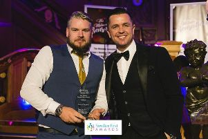 David Campbell, Chairperson of Circle of Support, receiving an award for 'Best Charity Supporting Families' at the Families First Awards in Belfast last month.