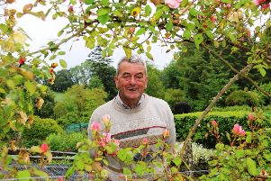 A HAPPY MAN... Andy Donnell has been working in the gardens of Dunmore House for 65 years.