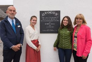 Graham Walton welcomed Cynthia Reed and her two nieces Alicia and Isabella Buchner to the US Rangers Centre.