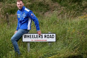 Magherafelt man Paul Jordan pictured during a visit to the Dundrod course at the Ulster Grand Prix last week.