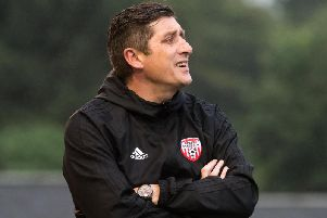 Derry boss, Declan Devine wasn't happy with the referee after Friday night's game.