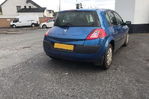 The blue Renault Megane. (Photo: P.S.N.I.)