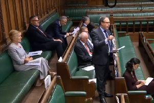Nigel Dodds, alongside other Northern Ireland MPs, speaking in the House of Commons on Tuesday July 9 2019. Image taken from Parliament TV