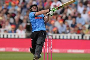 Luke Wright strikes out on Finals Day last year / Picture: Getty Images
