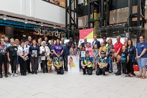 The reveal of the summer safety mascot at Grosvenor Shopping Northampton. Photo: Photocall-Events