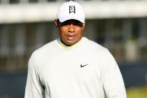 Tiger Woods at Royal Portrush earlier this week.
