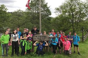 Unit 87 camped at Meggernie Adventure Centre last month in preparation for the World Scout Jamboree