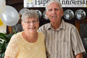 Mary and Barry Mills, long-standing residents of Shoreham, have celebrated their diamond wedding