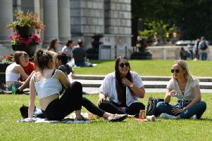 People taking full advantage of the good weather in Northern Ireland recently. (Photo: Pacemaker)