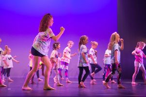 Pupils from UP! Dance Collaborations performing their summer show at the Roxburgh Theatre, Stowe