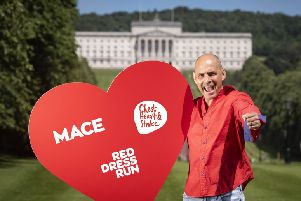 Harry Hamilton is urging people to sign up for the Red Dress Run