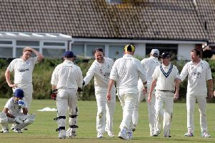 A wicket for Aldwick in their victory over Broadbridge Heath / Picture by Kate Shemilt