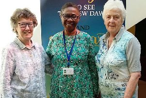 Sr. Anna (left), Sr. Kelechi (centre) and Sr. Margaret Rose.