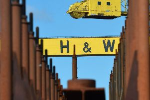 The famous cranes at Harland & Wolff