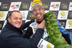 Peter Hickman (Smiths Racing) equalled Northern Ireland star Phillip McCallen's 1996 record of five Ulster Grand Prix victories in a day at Dundrod on Saturday. Picture: Stephen Davison/Pacemaker Press.