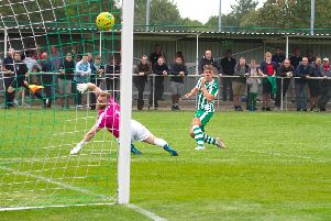 Callum Overton makes it 1-0 / Picture by Neil Holmes