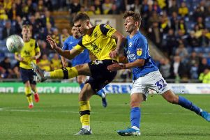 Harrison Burrows in action for Posh at Oxford United. Photo: Joe Dent/theposh.com.