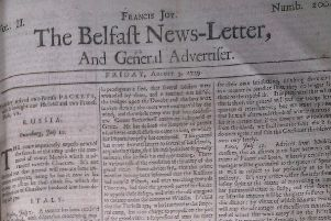 The Belfast News Letter of August 3 1739 (August 14 in the modern calendar)
