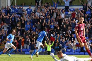 Mo Eisa got off the mark in Posh colours last Saturday (pictures: Joe Dent/theposh.com)