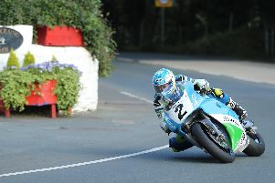 Dean Harrison topped the Superbike times on the Silicone Engineering Kawasaki ZXR750. Picture: Dave Kneen/Pacemaker Press.