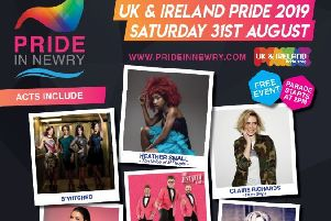 The Pride In Newry ' International UK & Ireland Pride 2019 festival takes place in Newry city centre from tomorrow with the main events on August 31