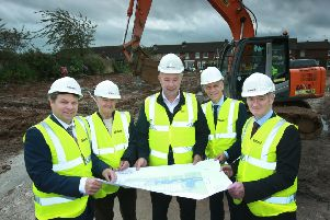 William Morrow (Assistant Director of Mental Health Services, Inspire) , Bobby Parker (Tenant), Maurice O'Kane (Belfast Health and Social Care Trust), Michael McDonnell (Group Chief Executive, Choice) and Billy Murphy (Director of Mental Health Services, Inspire)
