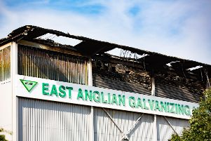 Fifteen fire crews sent to East Anglian Galvinizing LTD. Photo: Terry Harris