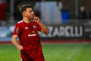 Worthing's Ollie Pearce netted twice against former club Bognor