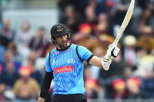 David Wiese hit one of the biggest sixes ever seen at Cardiff / Picture: Getty Images