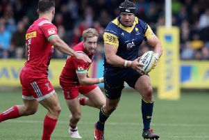 Gareth Milasinovich in action for Worcester Warriors.  (Photo by David Rogers/Getty Images)