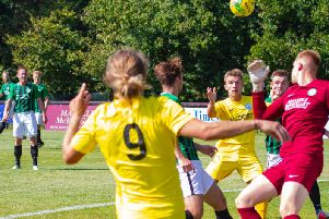 Chi City on the attack at Burgess Hill, where they won 2-1 / Picture by Neil Holmes