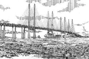 An artist's impression of how the proposed Celtic Crossing bridge between Northern Ireland and Scotland might look