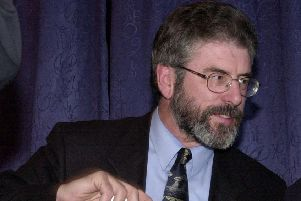 Sinn Fein's former leader, Gerry Adams