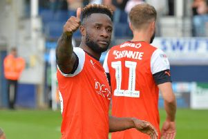 Attacker Kazenga LuaLua gives Luton's victory the thumbs up on Saturday
