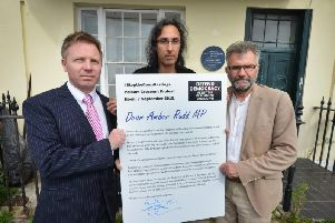 L-R Nick Perry (Liberal Democrats), Chris Whitrow (Campaign Manger of the local Green Party) and Peter Chowney (Labour)