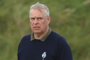 The Duke of York attending The Duke of York Young Champions Trophy at the Royal Portrush Golf Club in County Antrim