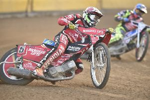 Hans Andersen in action for Peterborough Panthers.
