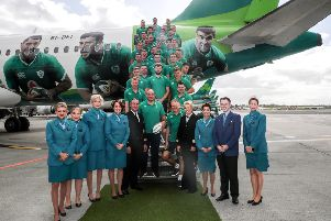 The 'Ireland squad before departure for Japan and the Rugby World Cup. Pic by INPHO.