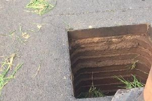 Manhole covers were stolen at a number of sites in the Cookstown area.