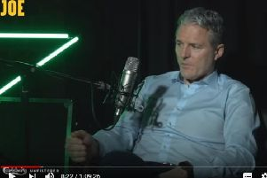 A video screengrab from the Jarlath Burns interview with the Joe.ie podcast