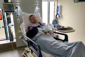 Michael Dunlop recovering in hospital following apparent surgery. (Picture: Michael Dunlop Facebook).