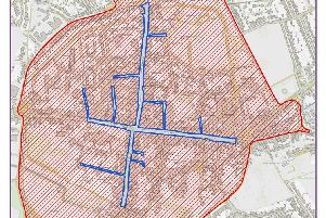 Proposed street trading consent areas, highlighted in blue. Appendix item to cabinet agenda