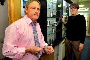 John and Pauline Cox, owners of Trelfers Jewellers in East Street, Horsham. Picture: Steve Robards