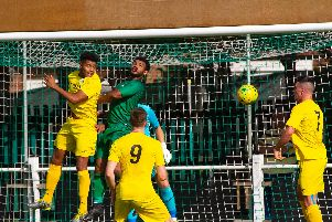 City in recent action away to Cray Valley PM / Picture by Neil Holmes