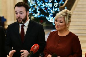 "Colum Eastwood of the SDLP and Michelle O'Neill of Sinn Fein. John Doagh says: ""Maybe the letter writer who criticised the DUP should reflect on the abortion stance of the two nationalist/republican parties"""