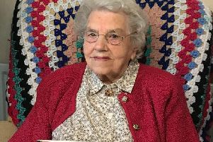 Mrs Emily Wilson who celebrated her 100th birthday.