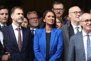 Gina Miller reacts outside the Supreme Court in London, where judges have ruled that Prime Minister Boris Johnson's advice to the Queen to suspend Parliament for five weeks was unlawful. (Photo: P.A. Wire/Jonathan Brady)